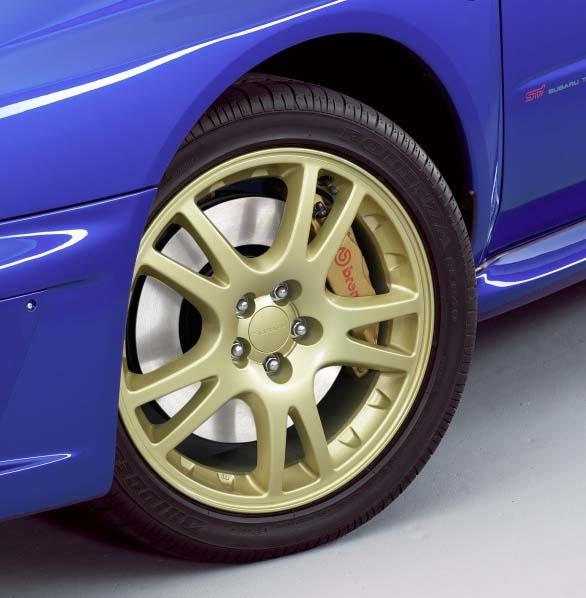 Gold UK STI Wheels w/Tires - NASIOC